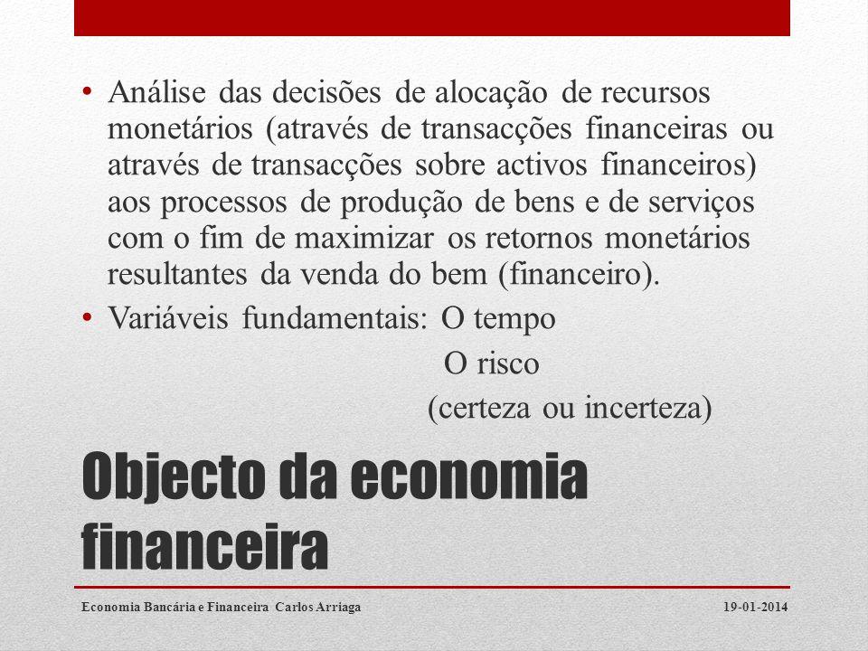 Objecto da economia financeira