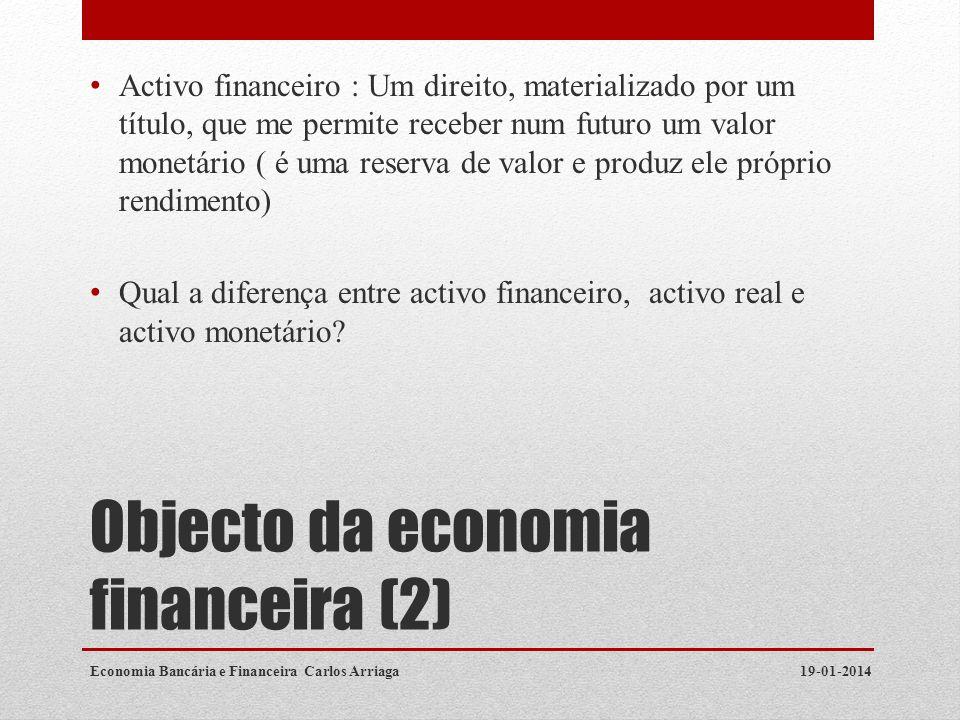 Objecto da economia financeira (2)
