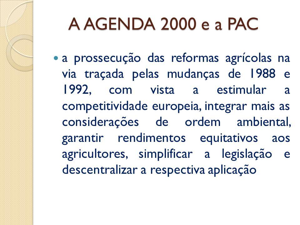 A AGENDA 2000 e a PAC