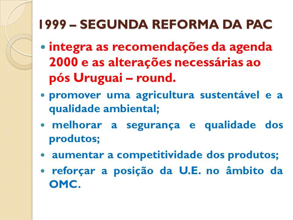 1999 – SEGUNDA REFORMA DA PAC