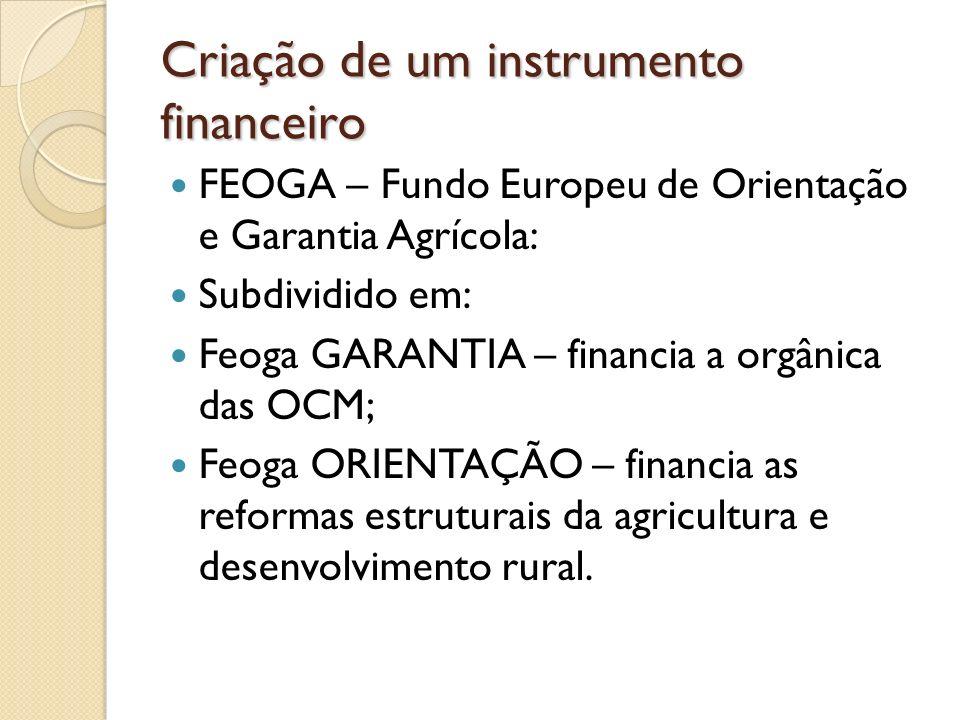 Criação de um instrumento financeiro