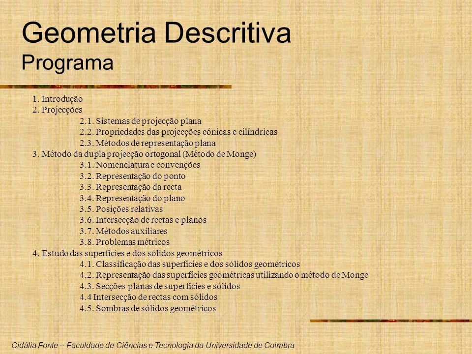 Geometria Descritiva Programa