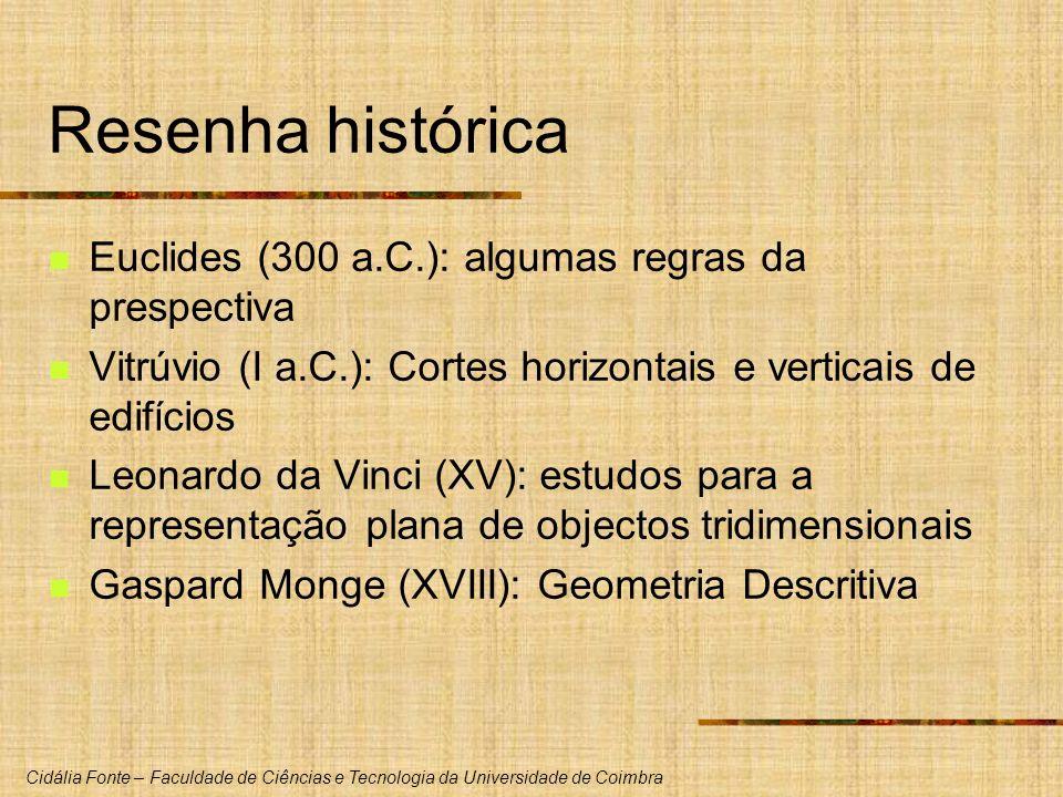 Resenha histórica Euclides (300 a.C.): algumas regras da prespectiva