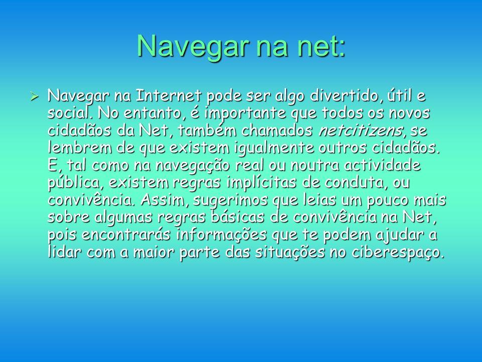 Navegar na net: