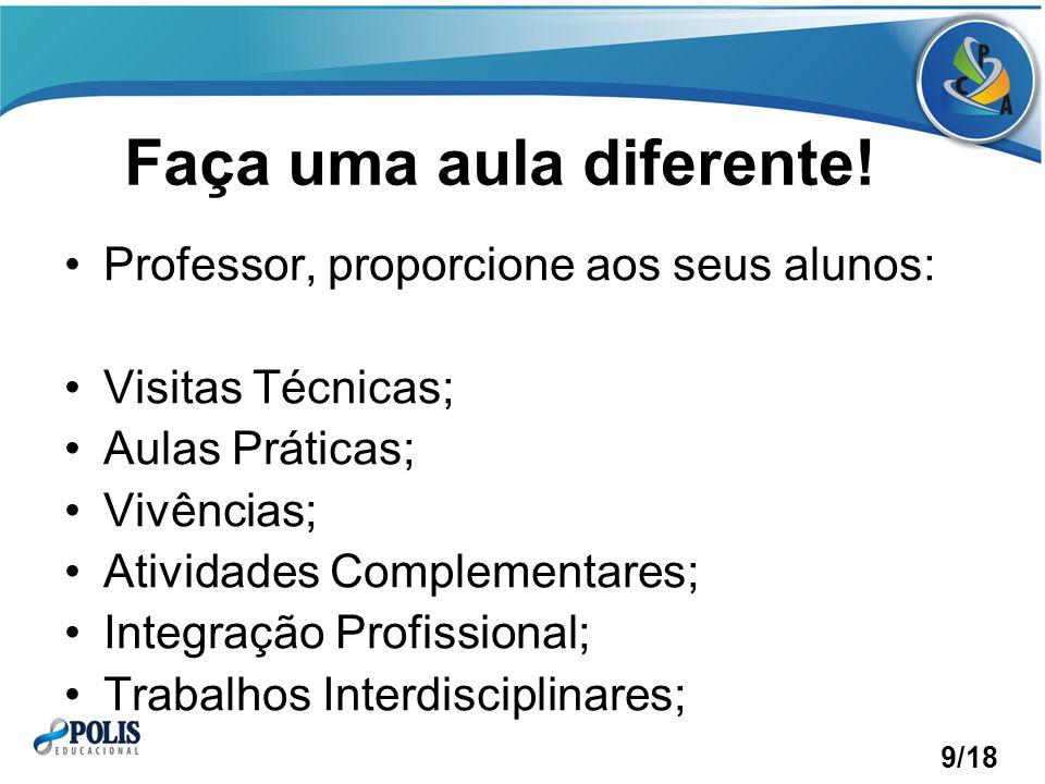 Faça uma aula diferente!