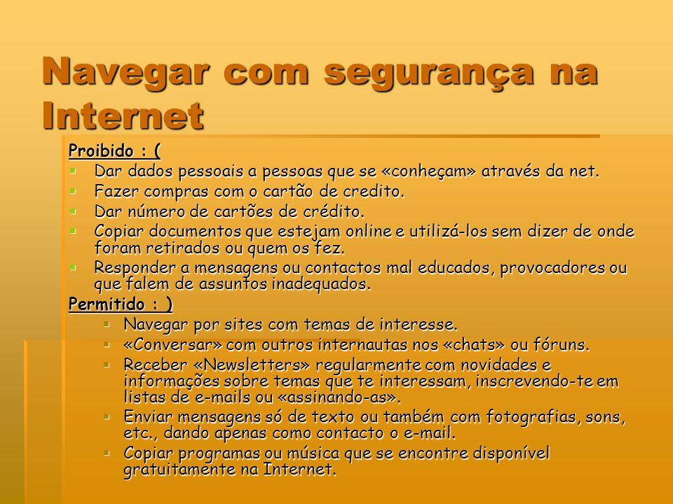Navegar com segurança na Internet