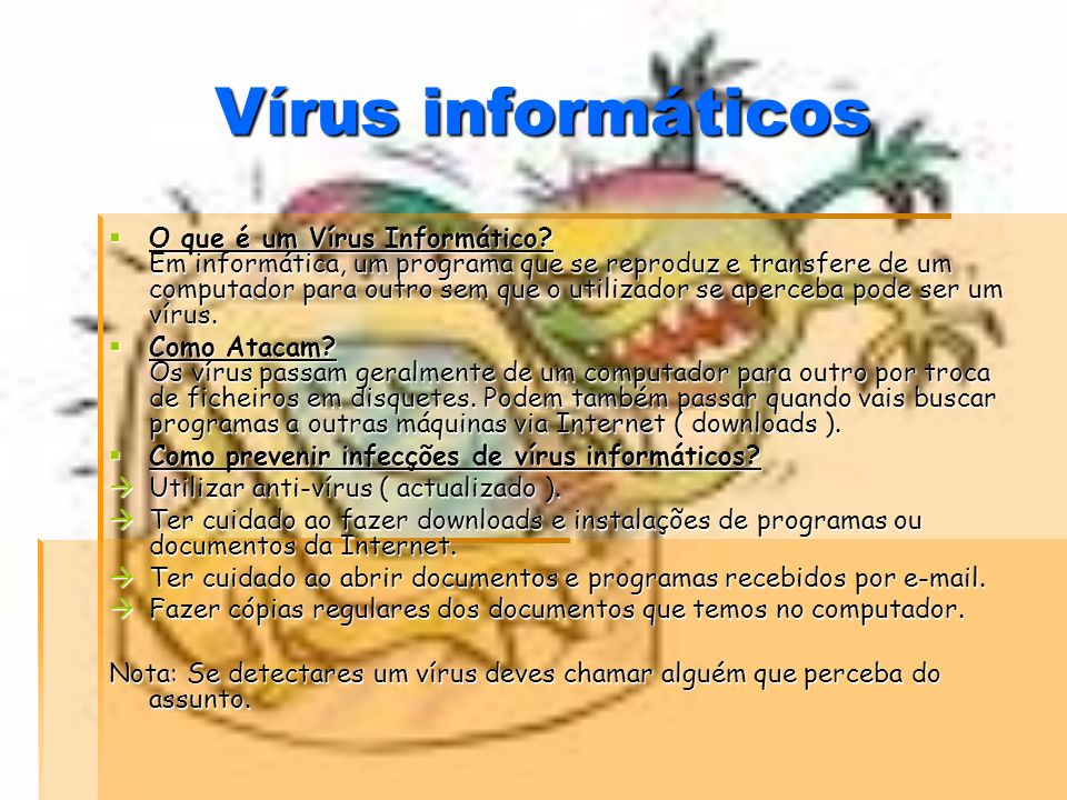 Vírus informáticos