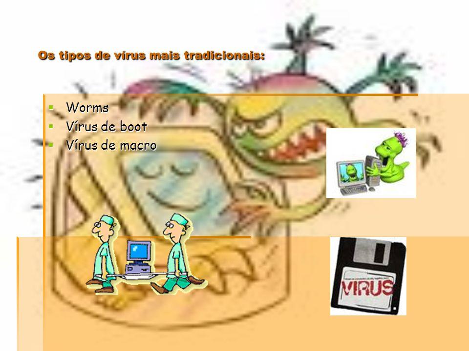 Os tipos de vírus mais tradicionais: