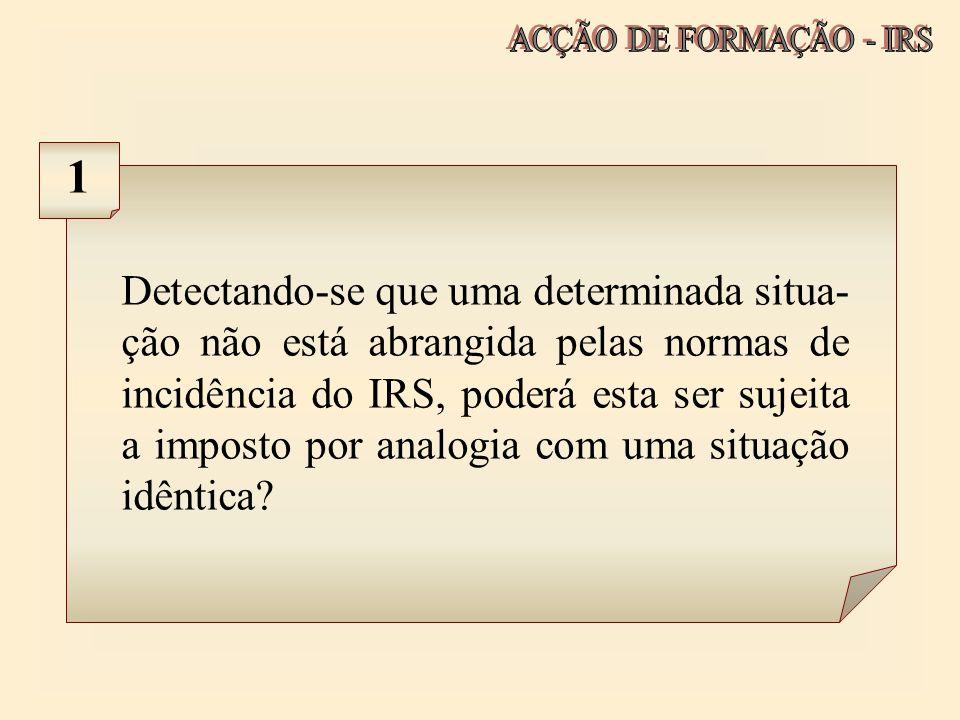 ACÇÃO DE FORMAÇÃO - IRS 1.