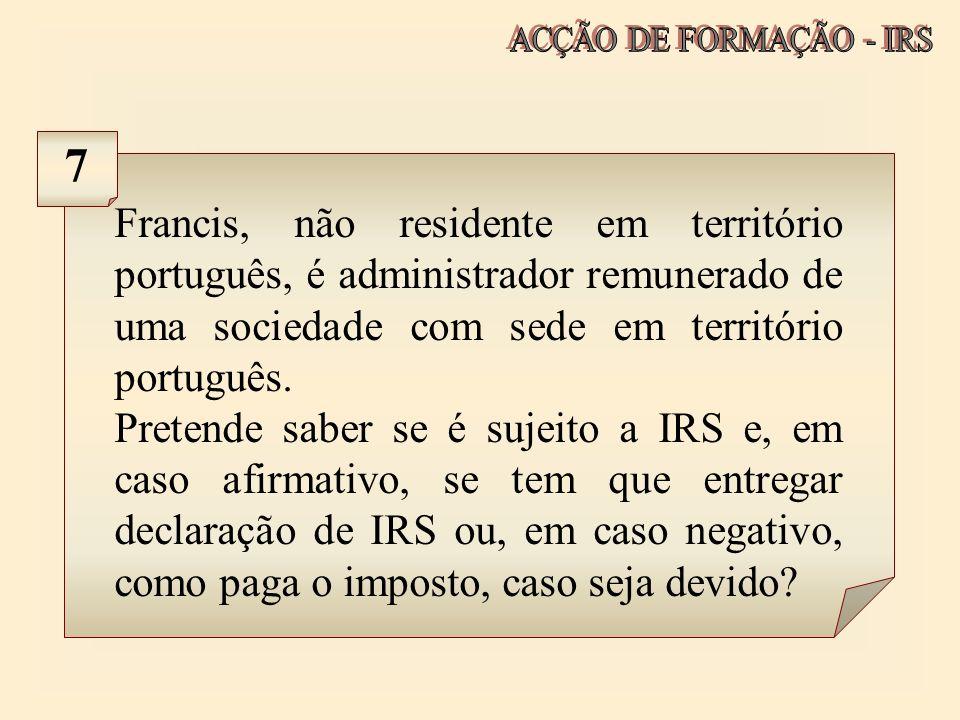 ACÇÃO DE FORMAÇÃO - IRS 7.