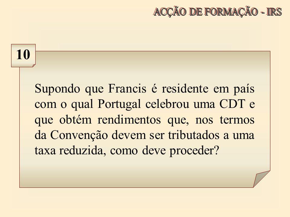 ACÇÃO DE FORMAÇÃO - IRS 10.