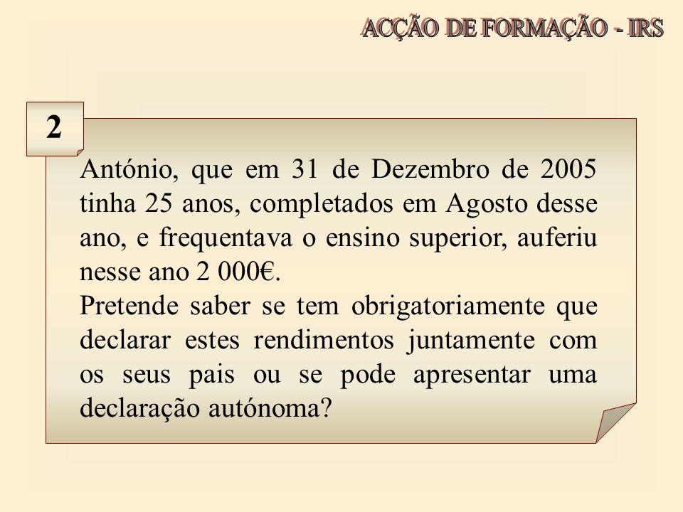 ACÇÃO DE FORMAÇÃO - IRS 2.