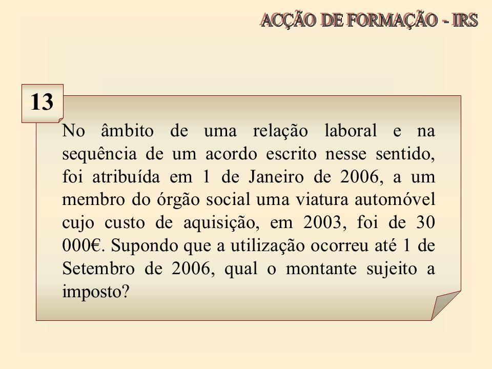 ACÇÃO DE FORMAÇÃO - IRS 13.
