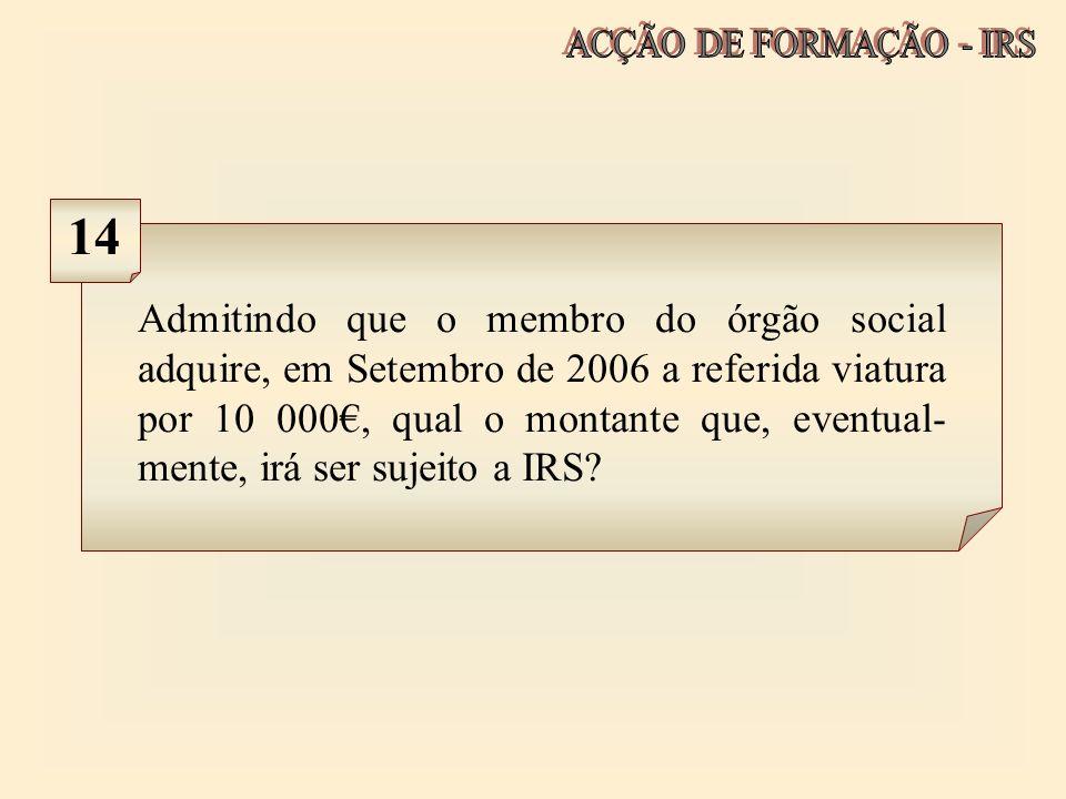 ACÇÃO DE FORMAÇÃO - IRS 14.