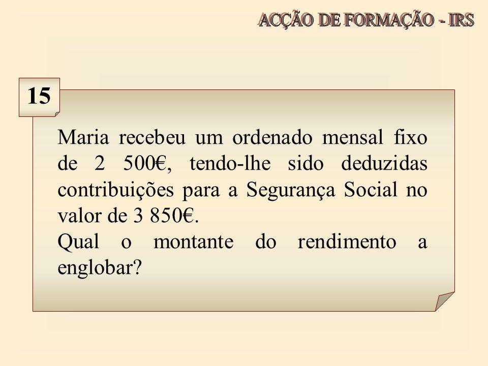 ACÇÃO DE FORMAÇÃO - IRS 15.