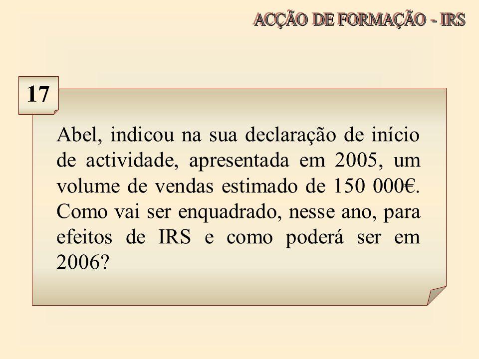 ACÇÃO DE FORMAÇÃO - IRS 17.