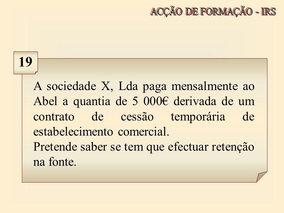 ACÇÃO DE FORMAÇÃO - IRS 19.