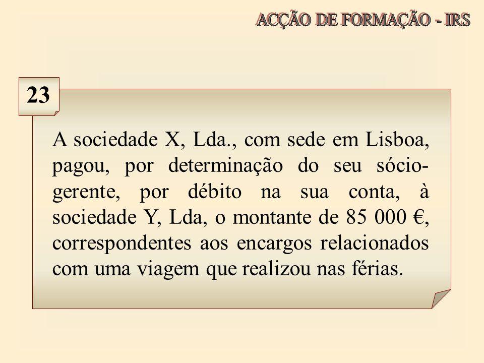 ACÇÃO DE FORMAÇÃO - IRS 23.