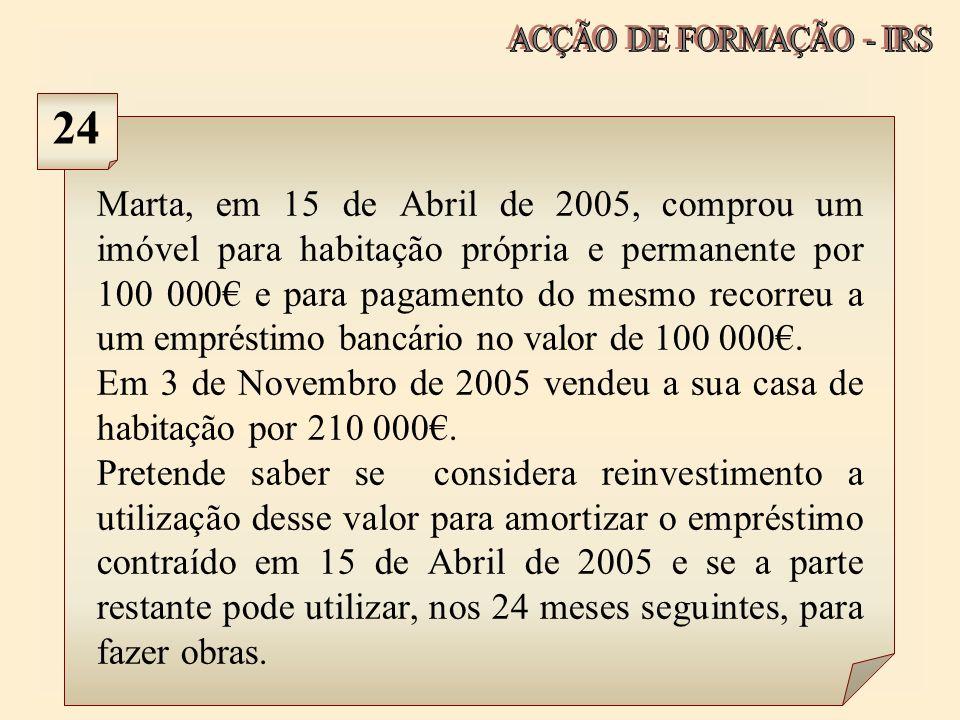 ACÇÃO DE FORMAÇÃO - IRS 24.