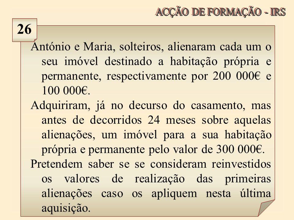 ACÇÃO DE FORMAÇÃO - IRS 26.