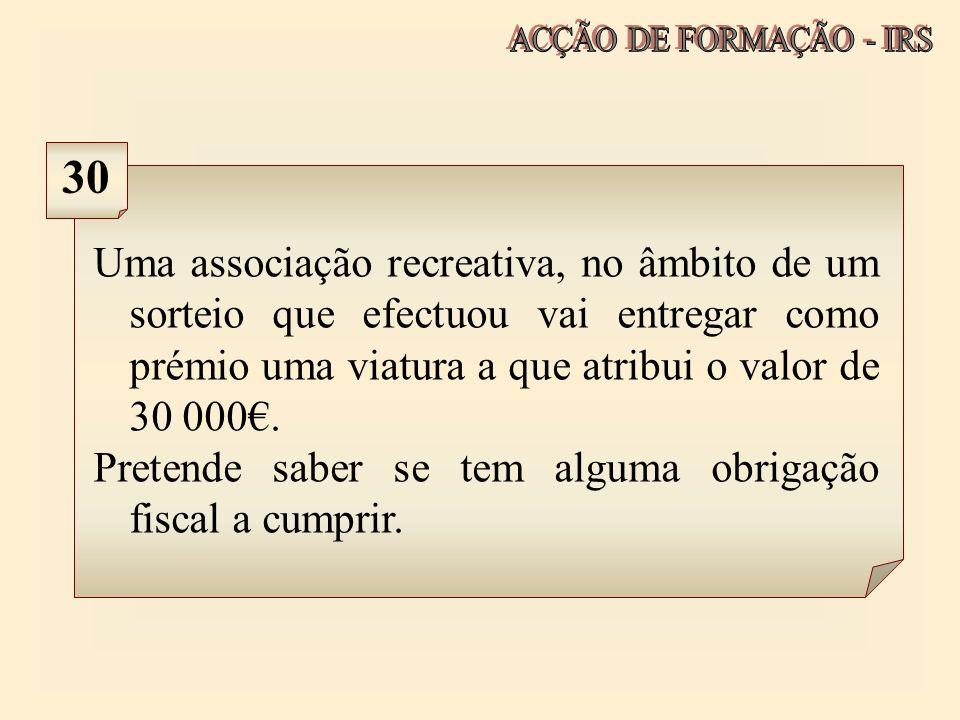 ACÇÃO DE FORMAÇÃO - IRS 30.
