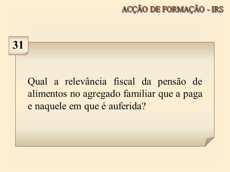 ACÇÃO DE FORMAÇÃO - IRS 31.
