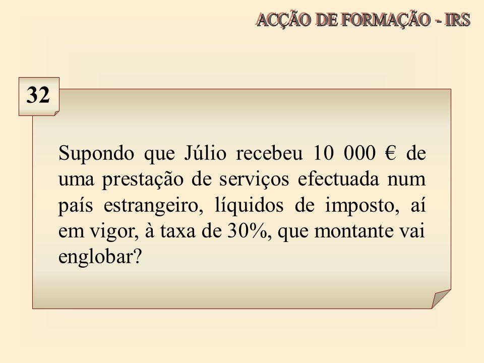 ACÇÃO DE FORMAÇÃO - IRS 32.