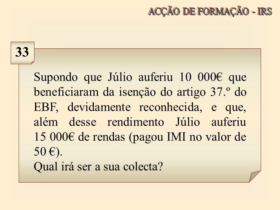 ACÇÃO DE FORMAÇÃO - IRS 33.