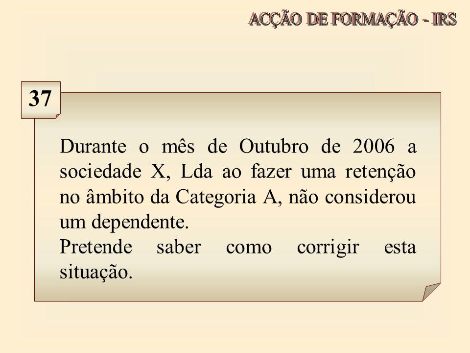 ACÇÃO DE FORMAÇÃO - IRS 37.