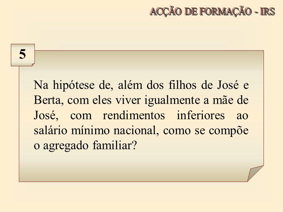 ACÇÃO DE FORMAÇÃO - IRS 5.
