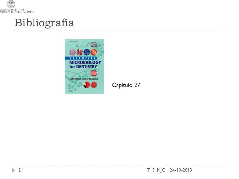 Bibliografia Capítulo 27 T13 MJC 24-10-2013