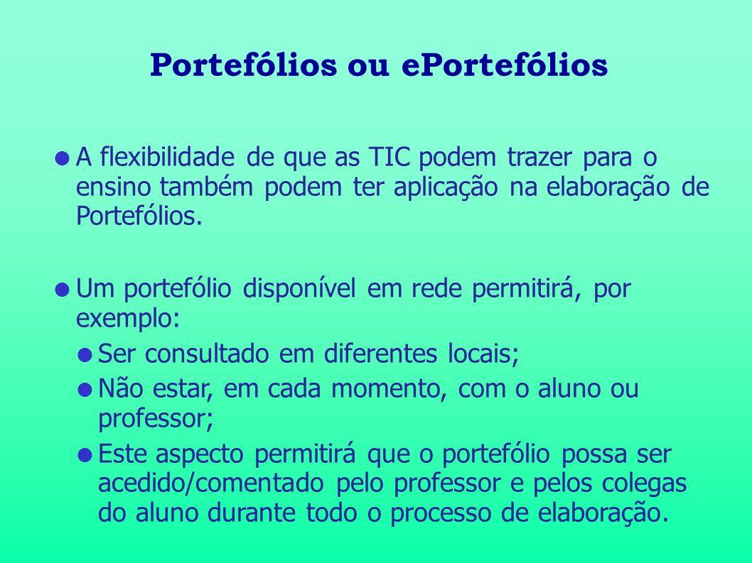 Portefólios ou ePortefólios