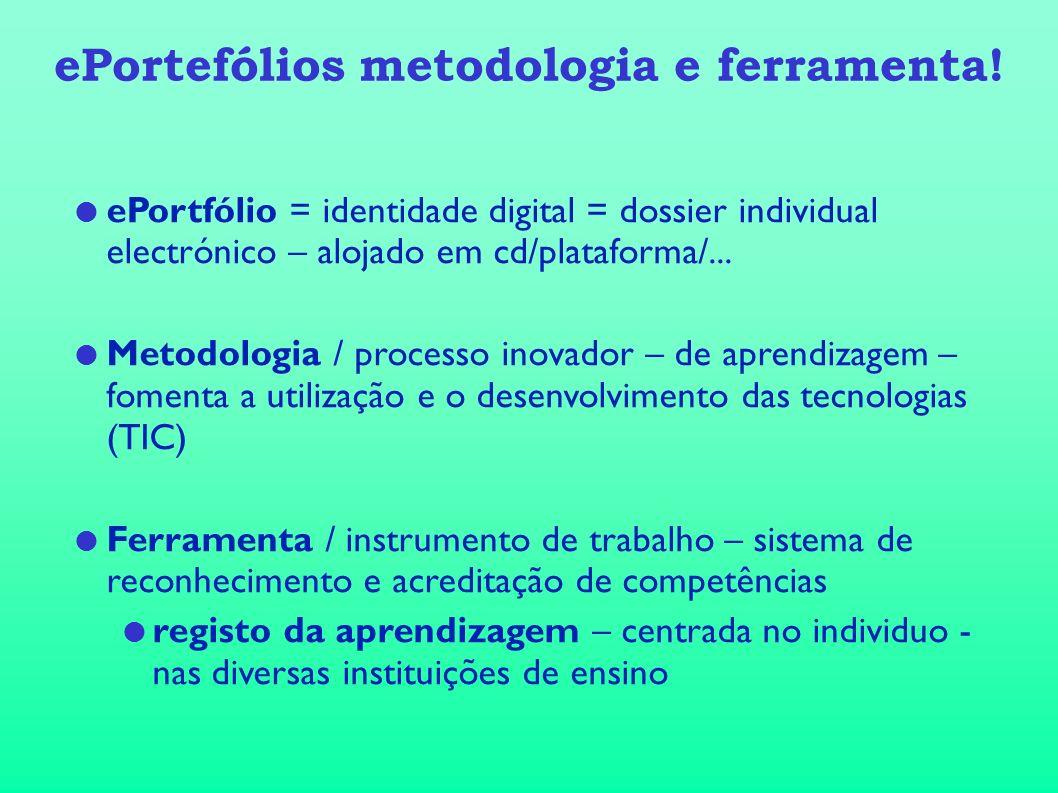 ePortefólios metodologia e ferramenta!