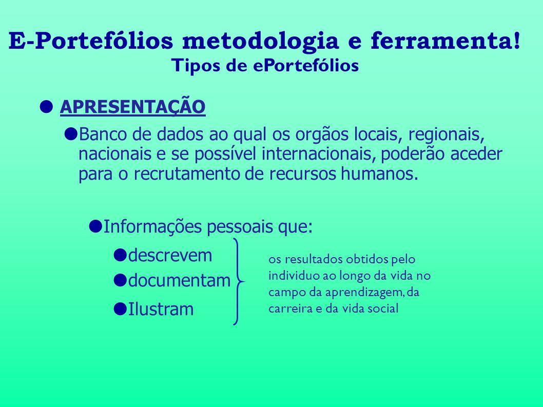 E-Portefólios metodologia e ferramenta!
