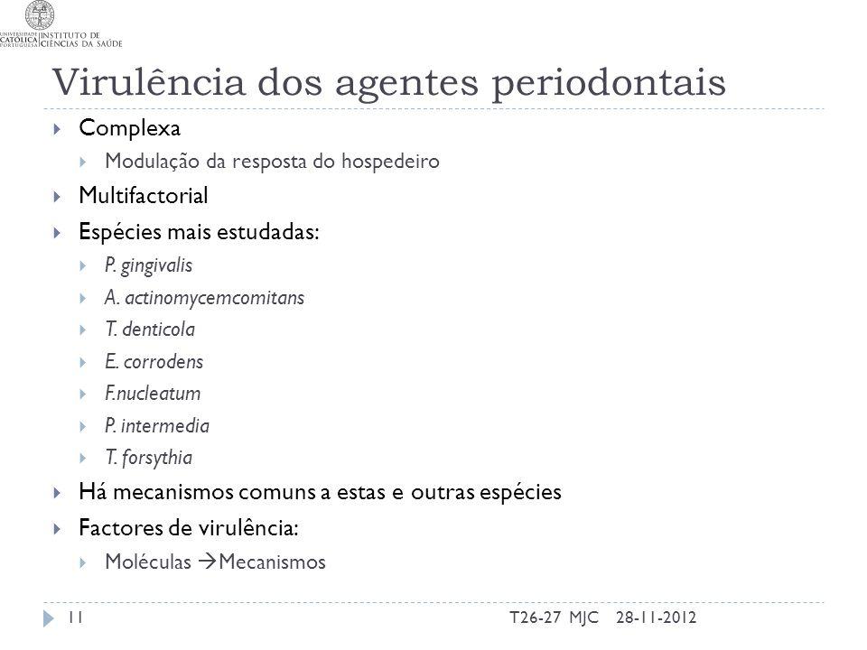Virulência dos agentes periodontais