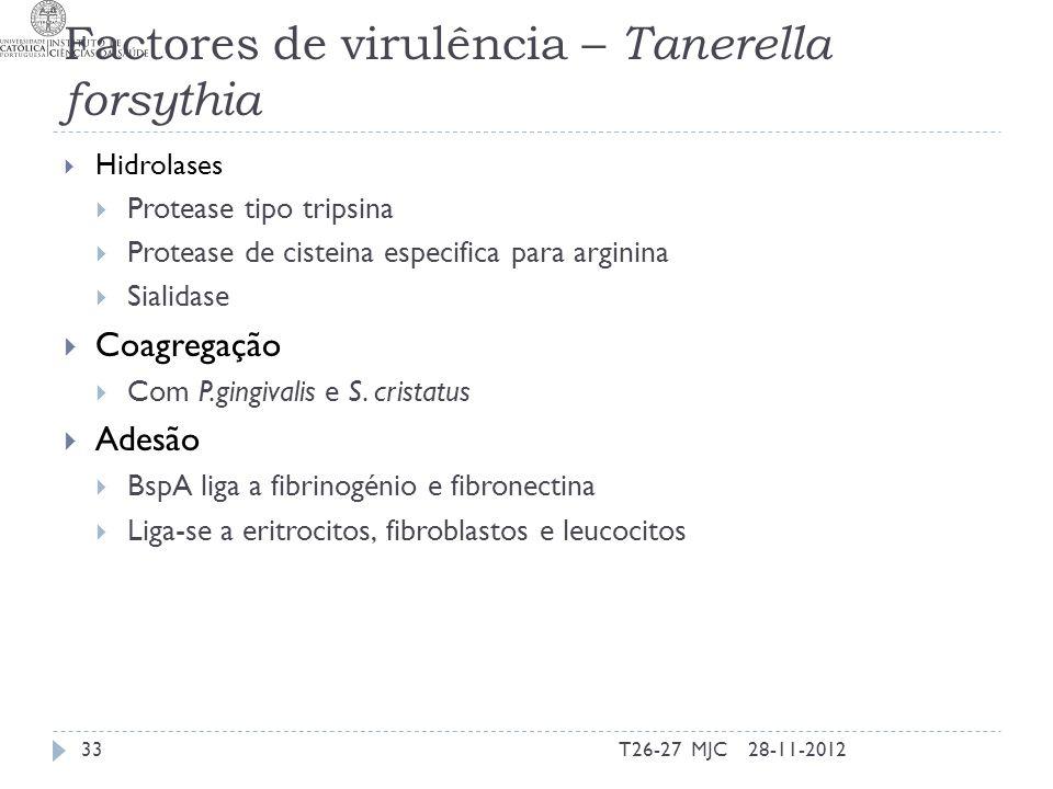 Factores de virulência – Tanerella forsythia