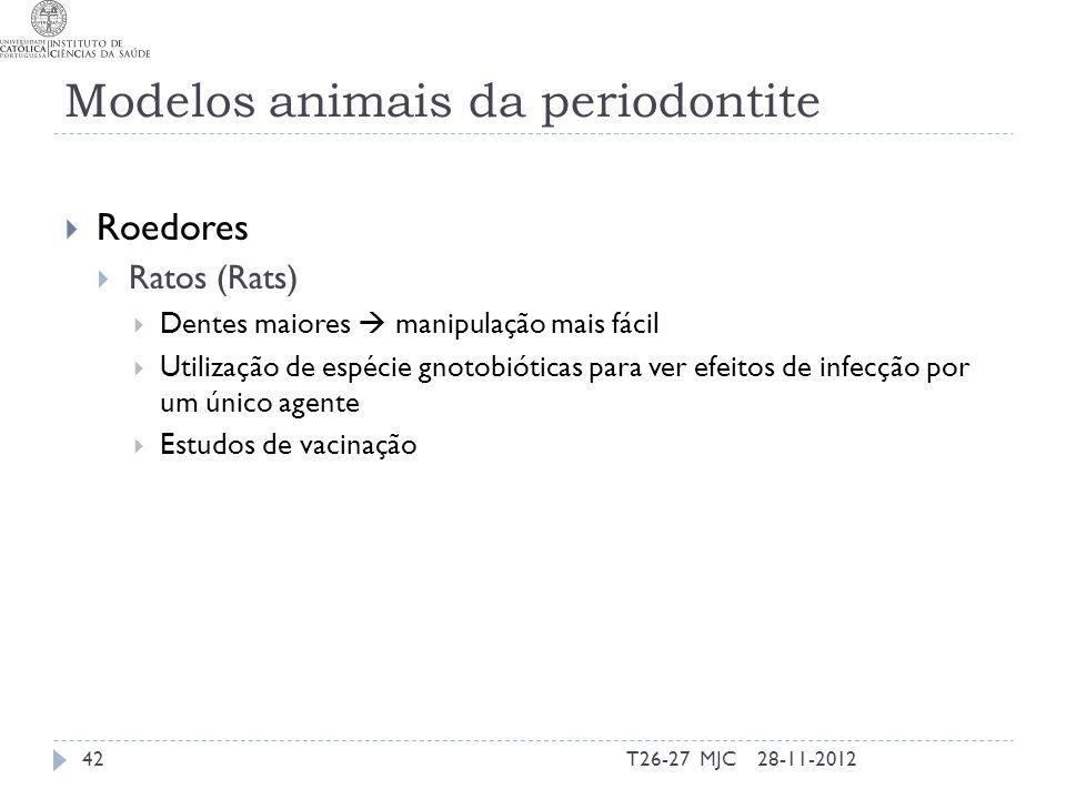 Modelos animais da periodontite