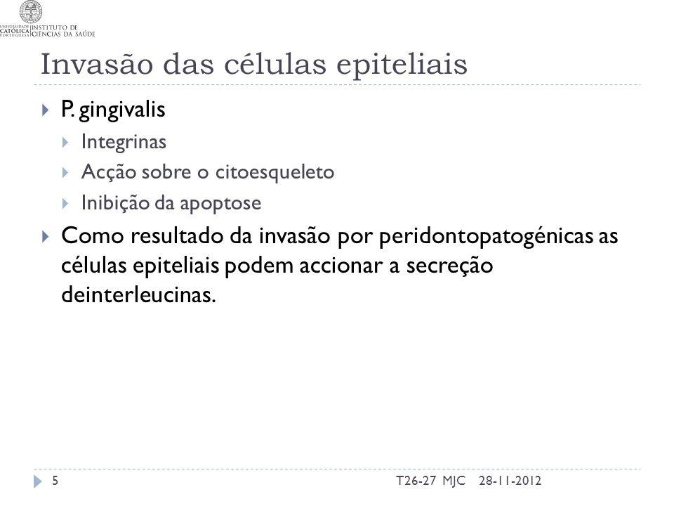Invasão das células epiteliais