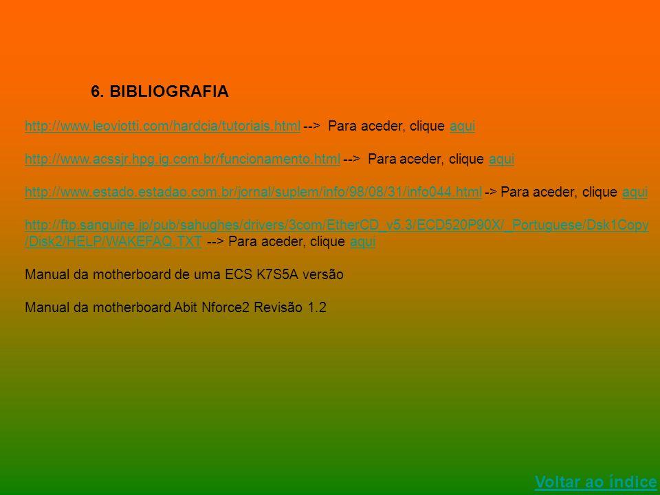 6. BIBLIOGRAFIA Voltar ao índice