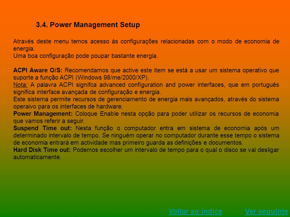 3.4. Power Management Setup