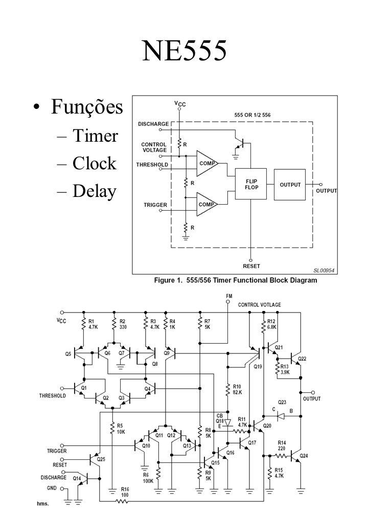 NE555 Funções Timer Clock Delay