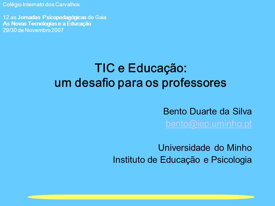 TIC e Educação: um desafio para os professores