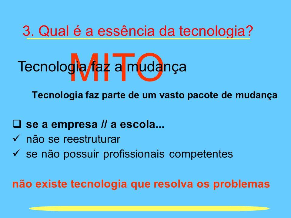 3. Qual é a essência da tecnologia