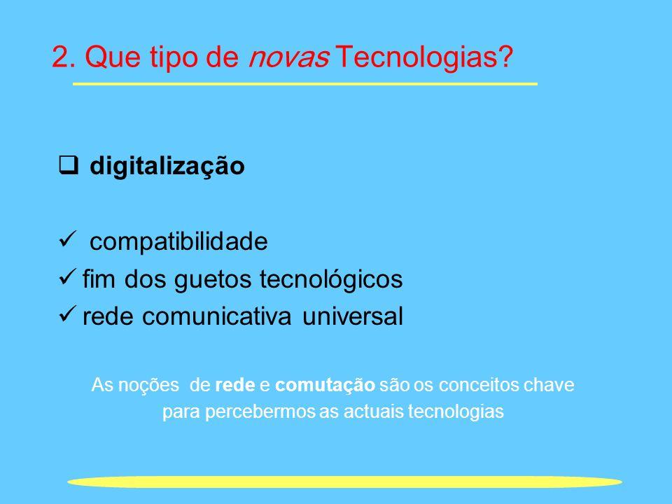 2. Que tipo de novas Tecnologias