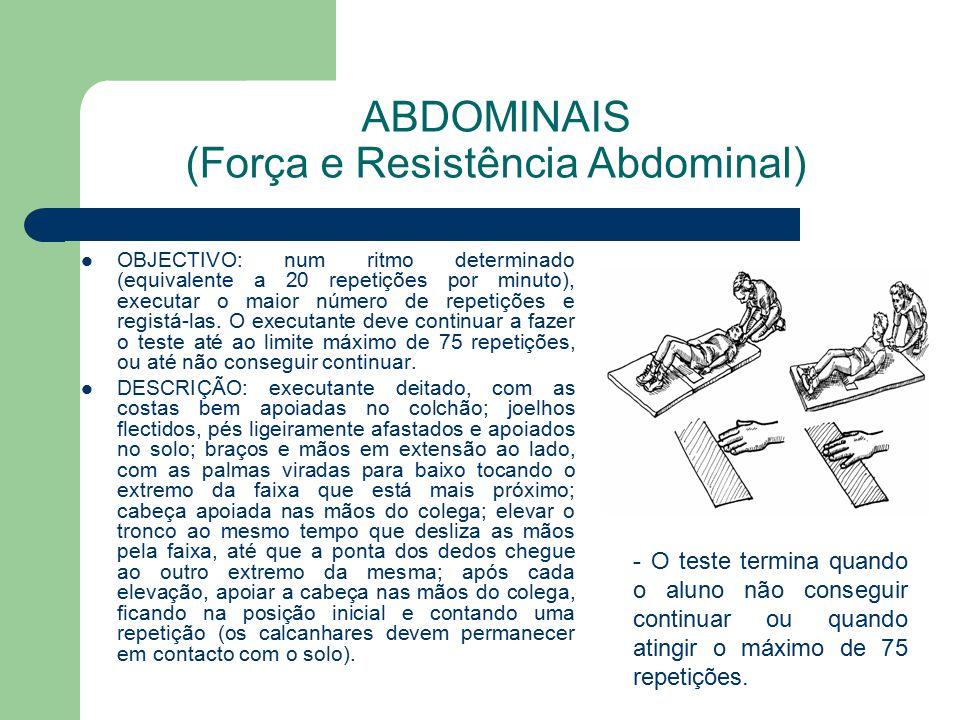 ABDOMINAIS (Força e Resistência Abdominal)