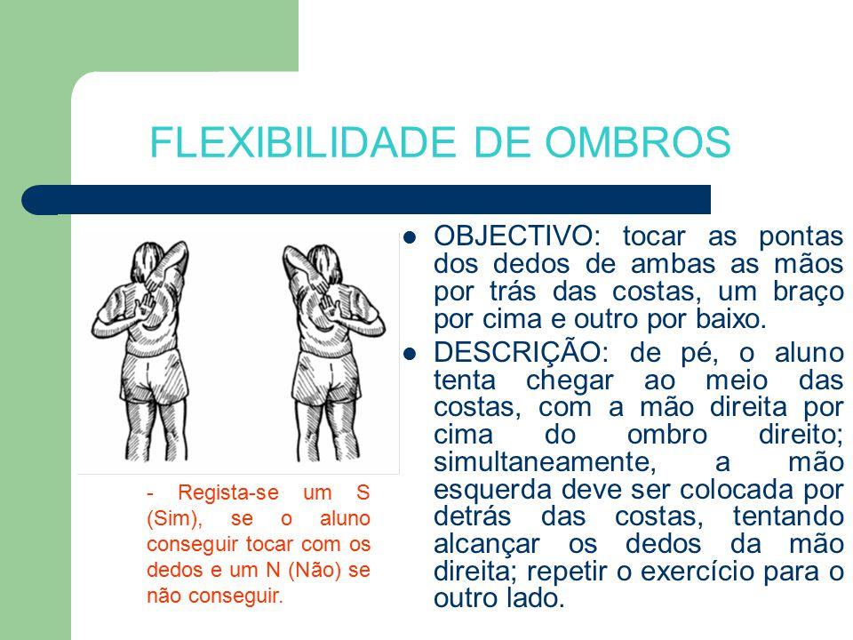 FLEXIBILIDADE DE OMBROS