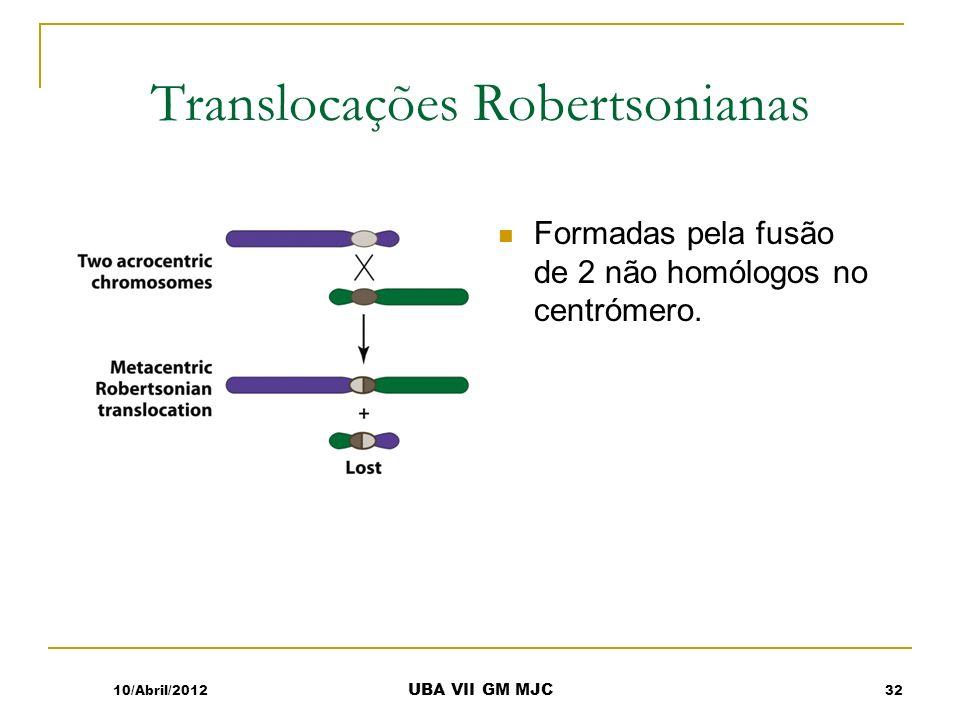 Translocações Robertsonianas