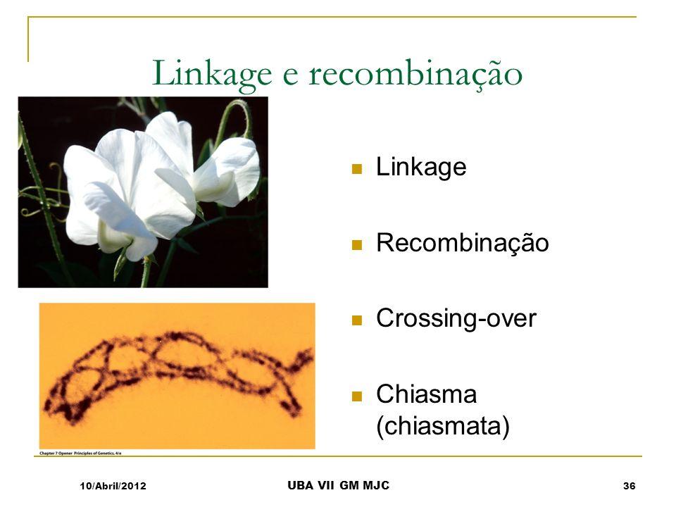 Linkage e recombinação