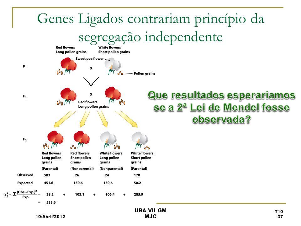 Genes Ligados contrariam princípio da segregação independente