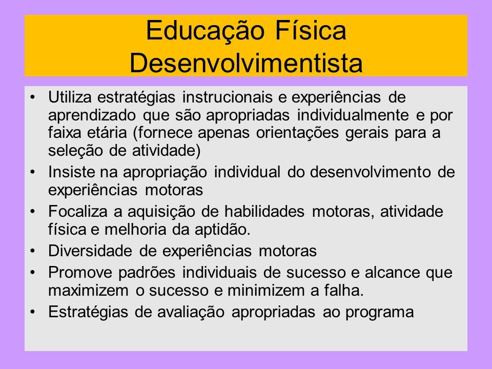 Educação Física Desenvolvimentista